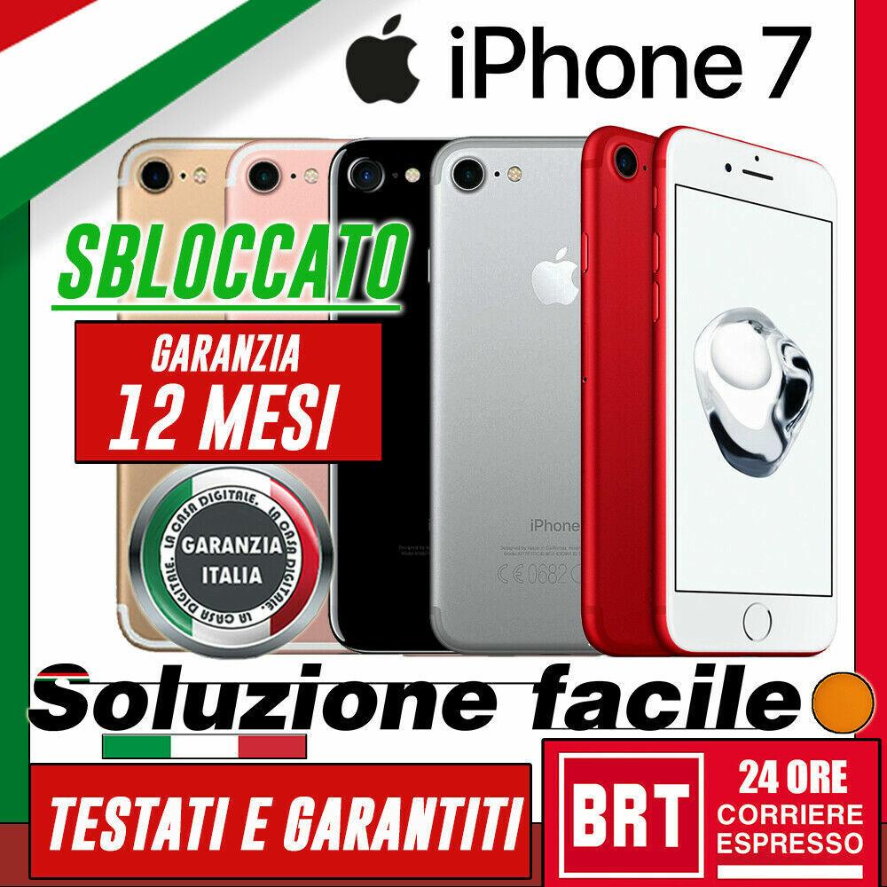 iPhone: GRADO A+++ SMARTPHONE APPLE IPHONE 7 32GB 128GB 256GB RICONDIZIONATO RIGENERATO!
