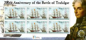 Nauru-2005-neuf-sans-charniere-battle-of-trafalgar-200th-anniv-6v-m-s-iii-navires-nelson-timbres