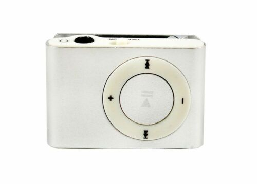 Mini Clip-on MP3 Player with Micro TF//SD Slot Portable Metal USB 2.0