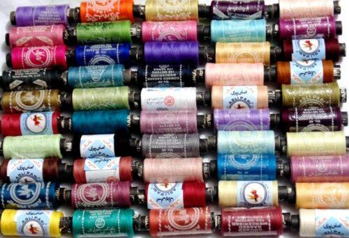 Nuevo 50 Costura Todo Propósito 100/% Puro Algodón Carretes Hilos Colores Surtidos mejor