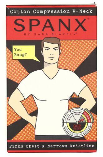 SPANX V-Neck Cotton Compression Black T-Shirt 2004 Size Large 42-44