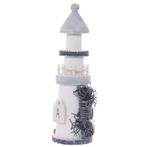 Shabby Chic Wooden Seaside Lighthouse with Rope