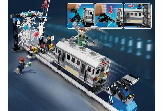 LEGO 4855 - SPIDERMAN - SPIDERMAN'S TRAIN RESCUE - 2004 - NO BOX