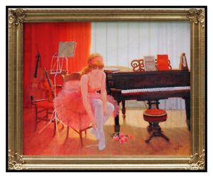 Louis-Fabien-Original-Oil-Painting-On-Canvas-Signed-Female-Portrait-Large-Art
