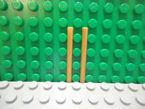 Lego mini figure 2 Pearl Gold 4L Wand Stick Bar Lightsaber NEW