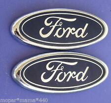 "FORD BLUE OVAL EMBLEMS OEM REAR BADGE 3.5"" CROWN VIC MUSTANG TEMPO ESCORT LOT"