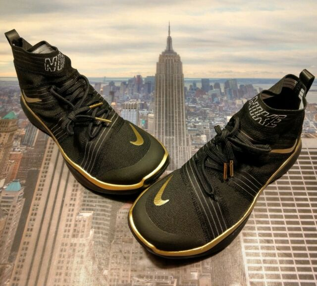 7f7c332b6108 Nike Free Train Virtue Hart Black Metallic Gold Size 11 AH0857 001 Kevin  Hart