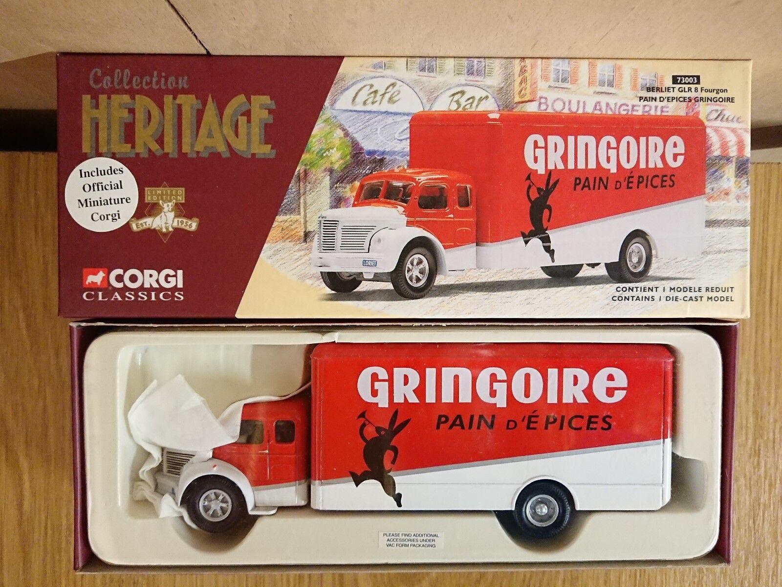 CORGI 73003 Berliet GLR 8 baggage car la douleur d'epices GRINGOIRE LTD ED. 0003 de 5000