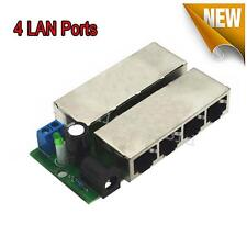 1 Pcs POE Module Injector Over Ethernet Router 4 LAN + Power Ports for IP Camera