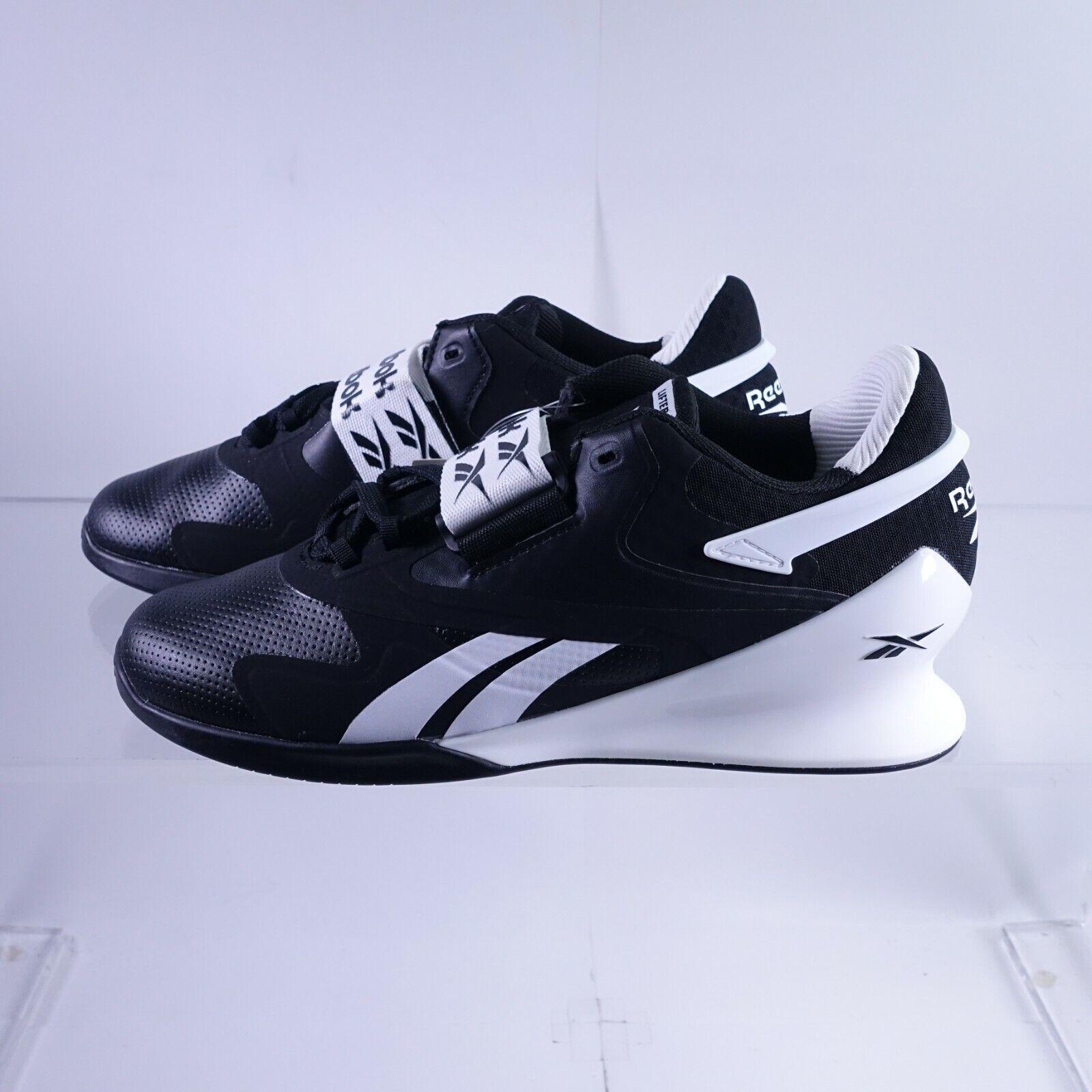 Taille 9.5 femme Reebok Héritage Lifter II Haltérophilie Chaussures FV0529 Noir/Blanc