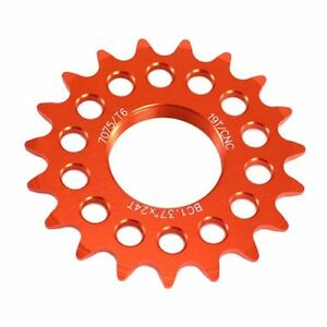 Orange Taiwan Made 19T Tooth 7075 Alloy Fixie Fixed Gear Track Cog