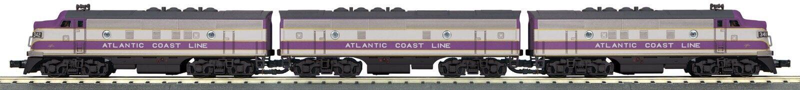 MTH 30-20463-1 30-20463-1 30-20463-1 ATLANTIC COAST LINE  F3 A-B-A   RAILKING SCALE  PredO 3.0 SMOKE d88580