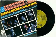 "HAROLD MELVIN & the BLUE NOTES ""Satisfaction Guaranteed"" 1974 DUTCH PS 7""/45"