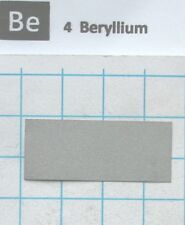 99.9% Beryllium Metal Foil 36x15x0.15mm X-ray window - Pure element 4 sample
