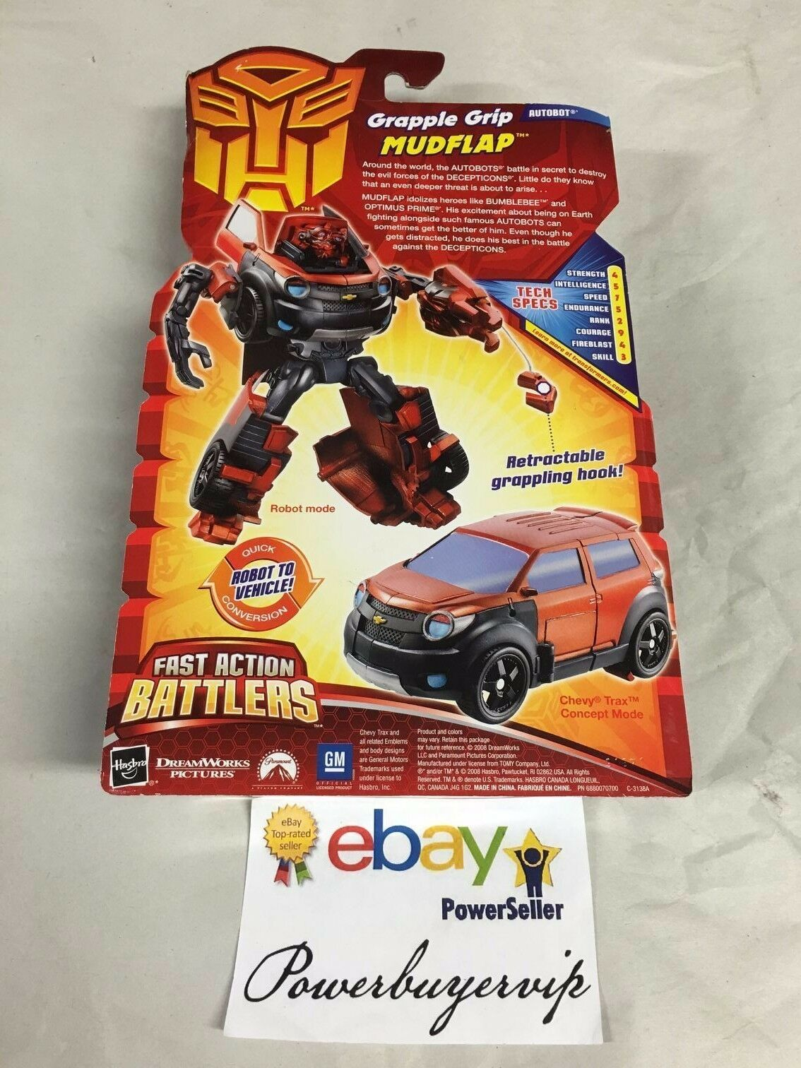 Transformers Movie GRAPPLE GRIP MUDFLAP Complete Fast Action Battlers