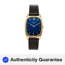 Patek Philippe Golden Ellipse Manual Yellow Gold Mens Strap Watch 3667J