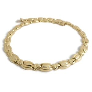 10dd6c913ca15 Details about Italian Vintage Oval Chain Link Necklace 14K Yellow Gold,  16.5 Inches, 27.37 Gr
