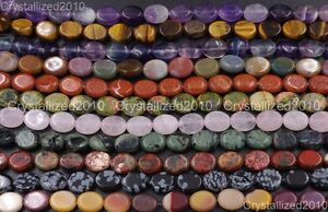 Wholesale-Natural-Gemstone-Oval-Loose-Beads-Strand-8mm-10mm-14mm-Pick-Stone-16-034
