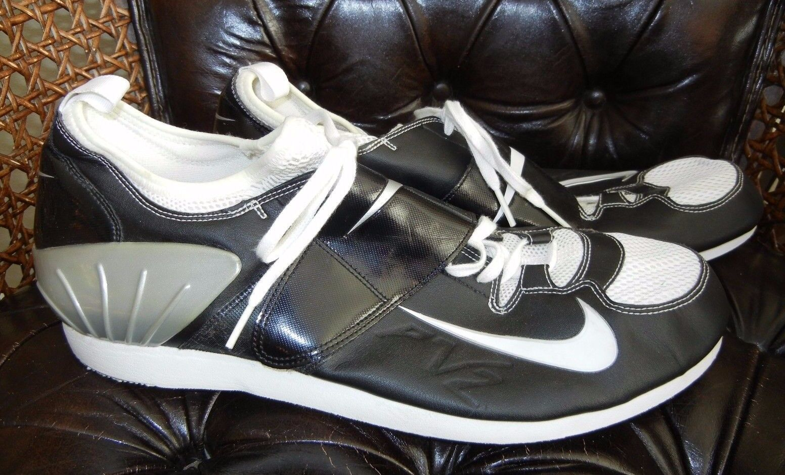 7f040bc46f1 NIKE BOWERMAN Black Gray TRACK TRACK TRACK SHOES Size Men s 14 - NO SPIKES  Running Jumping e9f36a