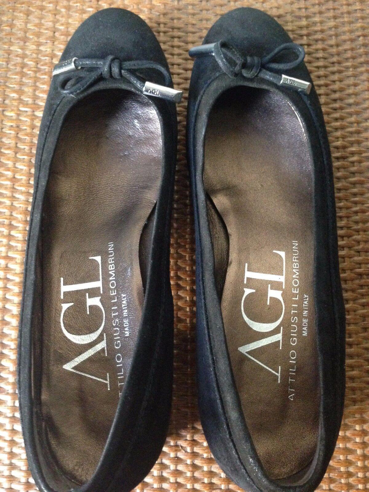 NEW Black Suede Block Heel Woman's Shoes Size 36.5