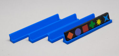 Game NOT included Set of 4 Blue Travel Qwirkle Tile Tray Holders