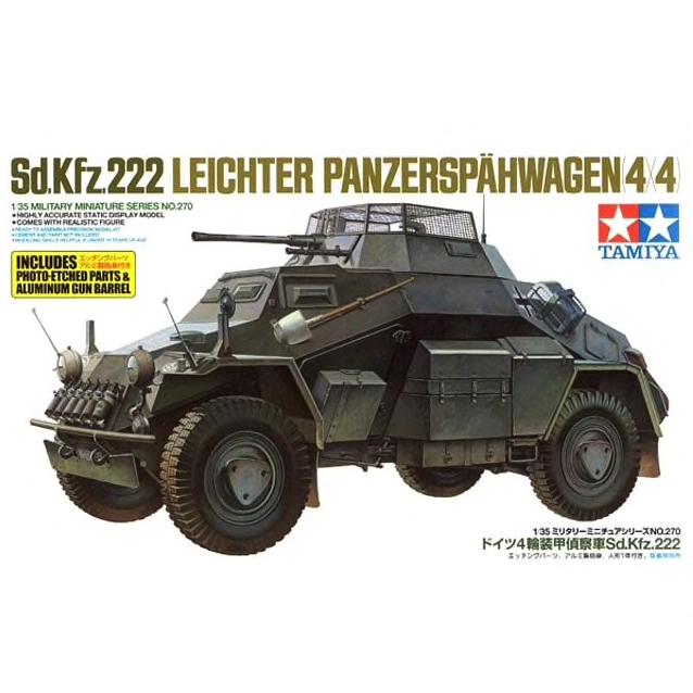 Tamiya 35270 Sd.Kfz.222 Leichter Panzerspähwagen 4 4 1/35