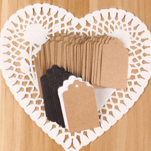 50 Pcs Greeting Cards /& Party Supply Blank Hang Tag Kraft Paper Tag Retro Gift