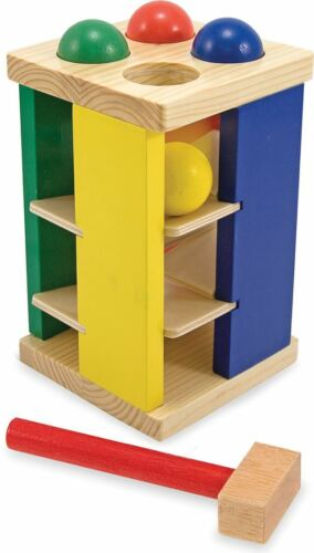Melissa & Doug POUND AND ROLL TOWER Baby/Toddler/Child Wooden Toys BN