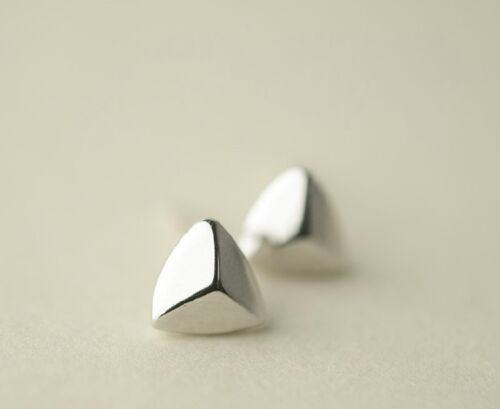 925 Sterling Silver Earrings Triangle Shield