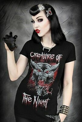 Restyle T-Shirt Creature of the Night Wolf Horror Steampunk Rave Gothic Punk RS9