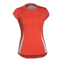 Women's Wsd Bontrager Vella Jersey Sleeveless Size Large Orange/white