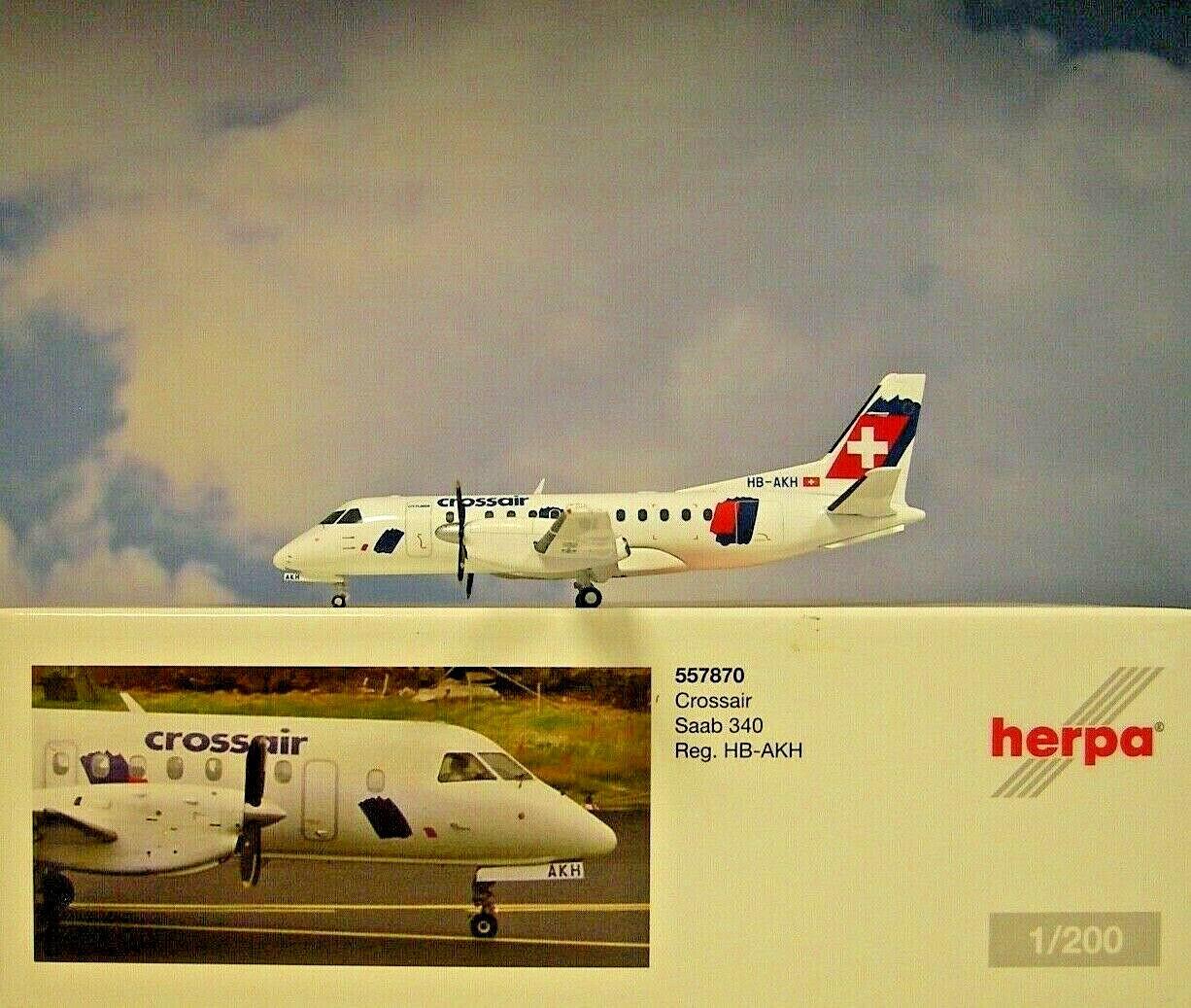 Herpa Wings 1:200 Saab 340 Crossair 557870
