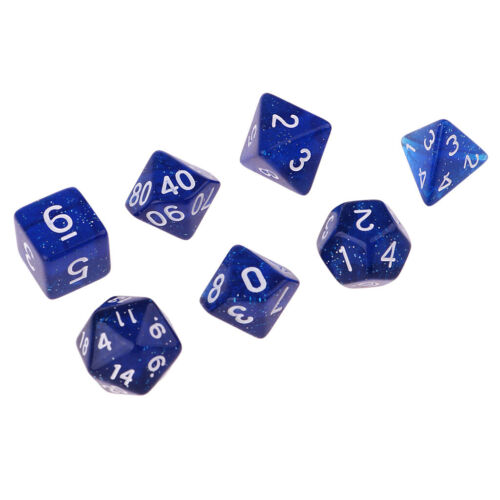 14pcs Polyhedral D4-D20 Dices for TRPG Dungeons /& Dragons Table Game Dice