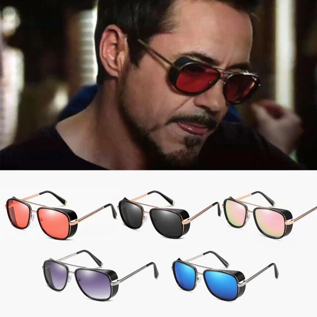 Iron Man Sunglasses Gradient Lens Aviator TONY STARK Personalized glasses Hot