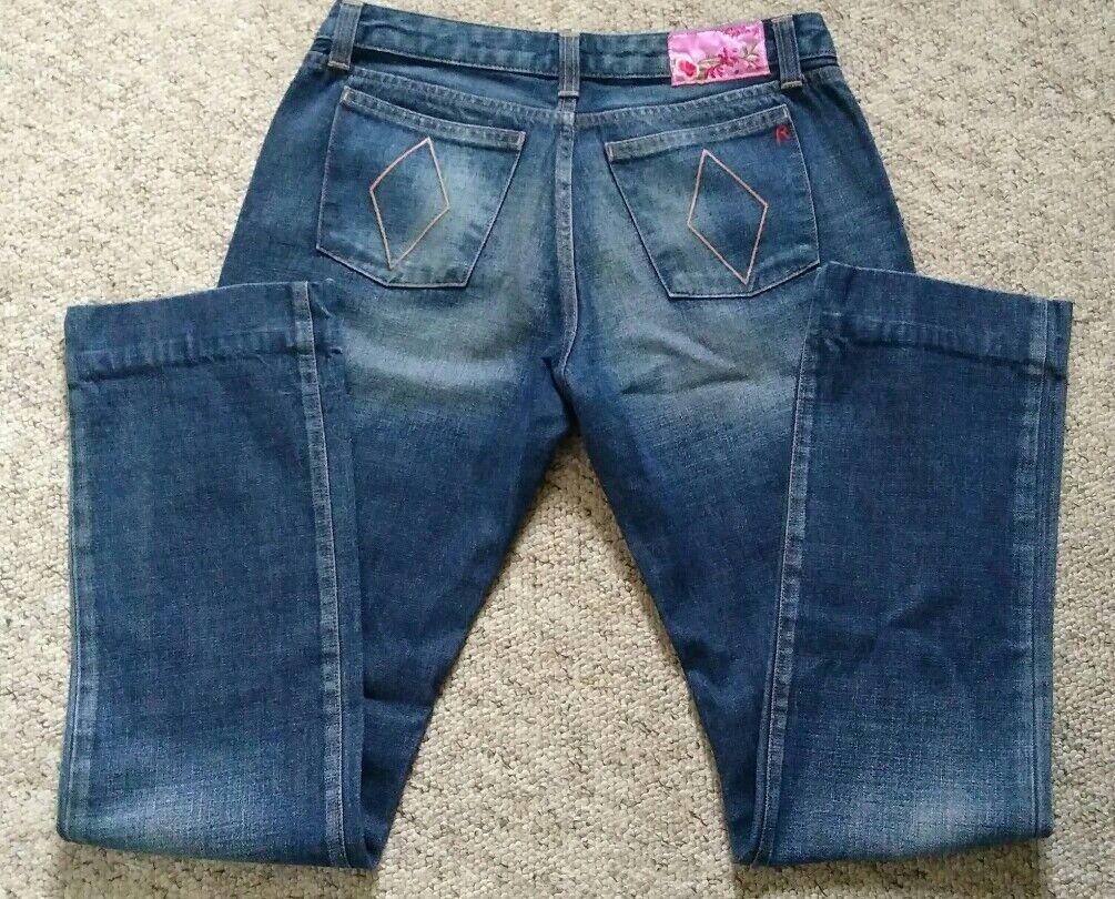 Ladies Replay Jeans WV454 Straight Leg Jeans Waist 32 Leg 32