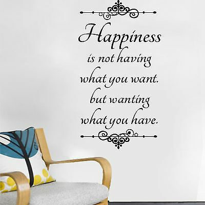 Inspiring Happiness Vinyl Wall Decals Stickers Removable DIY Home Decors