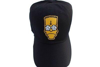 Fashion Bart Simpson Cross Black DAD CAP DAD HAT 56f5362ae0e