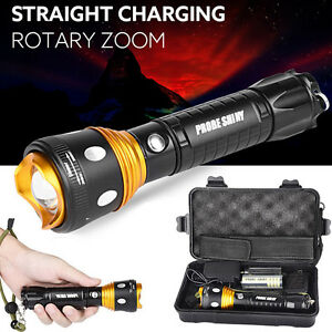 Battery Charger Kit 6000LM XM-L T6 LED Tactical Flashlight Zoomable Torch Lamp