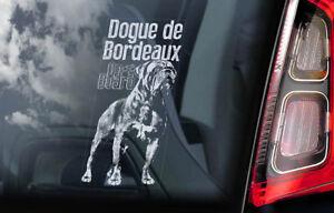 Dogue-De-Bordeaux-Auto-Adesivo-per-Finestre-Cane-a-Bordo-Francese-Mastiff