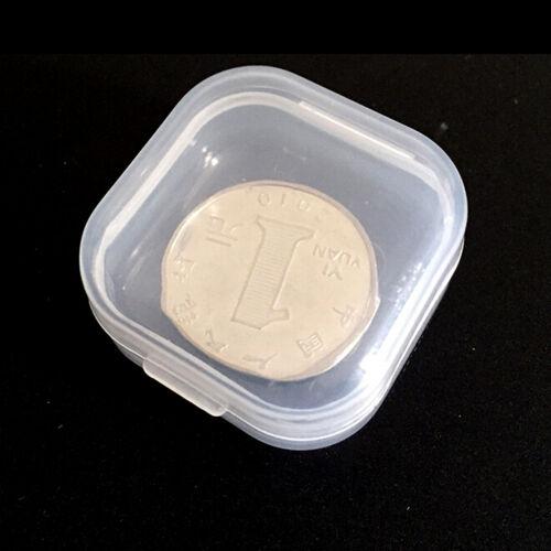 10Pcs Clear Plastic Transparent Lid Storage Box Collection Container Case OJ