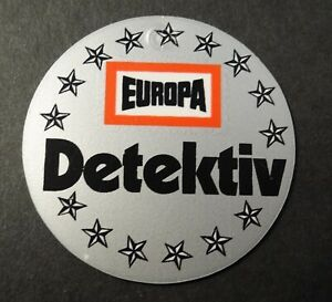 Sammler-Aufkleber Europa Radio Plays Detective Plaque 80er Years Sheet Metal