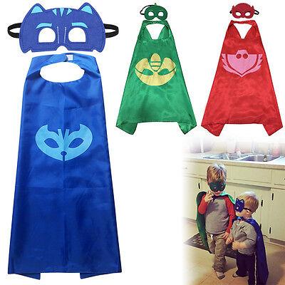 Superhéroe Máscaras PJ Cabo Conjunto Gekko Owlette Catboy Niños Traje Partido