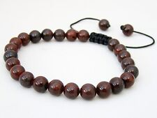 Men's Shamballa bracelet  all 8mm  Jasper Brecciated  stone beads