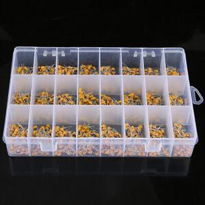 1200pcs Monolithic Ceramic Capacitor MLCC Assorted Kit Box 24 Values 10pF~10uF
