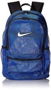 368ebf907f5a Nike Brasilia Mesh Backpack Transparent School Bag Ba5388 480 Blue Black