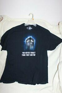 DOCTOR-WHO-UNIQUE-TARDIS-DESIGN-SHORT-SLEEVE-T-SHIRT-Black-SIZE-XL