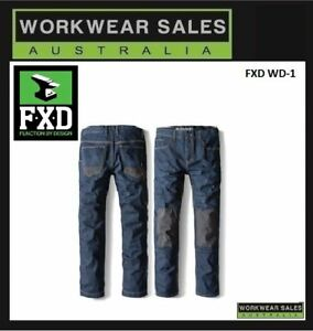 FXD-WD-1-WD1-Work-Jeans-Workwear-Mens-Pants-Free-Shipping