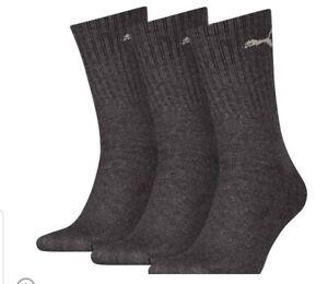 PUMA-Sports-Socks-Crew-Mens-Womens-Running-3-Pair-Pack-UK-Size-2-5-5-cushioned