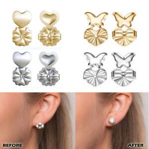 14cd548aa 2 Pairs Magic Earring Backs Lifter Support Lifts Hypoallergenic ...