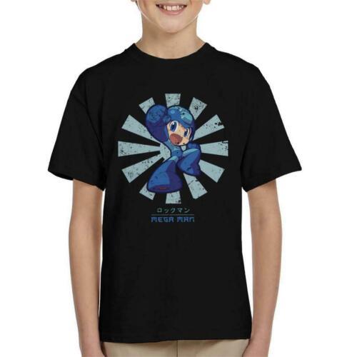Mega Man Retro Japanese Kid/'s T-Shirt